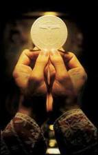The Most Holy Eucharist - the Body, Blood, Soul, and Divinity of Jesus Christ under the form of bread (see John 6).