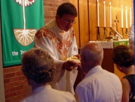 Kneeling for Holy Communion
